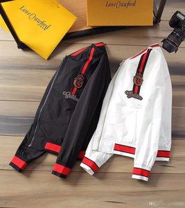 2019 Nouveau Automne Hommes Designer Veste Manteau de sport de marque Sweat-shirt à capuche avec manches longues Zipper coupe-vent Vêtements pour hommes Hauts Pulls à capuche