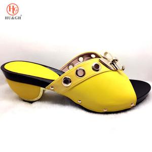 2019 웨딩 아프리카 신발 가방 일치하는 부끄러운 이탈리아 신발 나이지리아 여름 샌들 신발 좋은 품질 높은 발 뒤꿈치