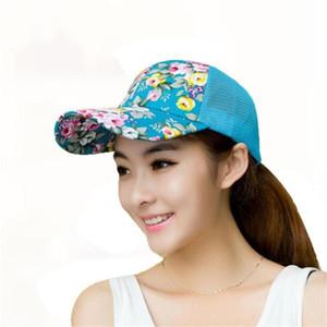 2019 Summer Baseball caps women Embroidery Cotton Baseball Cap Boys Girls Snapback Hip Hop female Flat Hat flower Casquette Snap