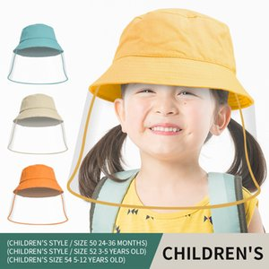 Children's Protective Hat Face Shield Hat With Face Shield Cover Anti-foam Fisherman Hats Boy Girl Custom Logo Caps Embroidery Baseball Cap