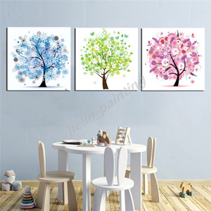 Wall Art Canvas Colorful Tree Abstract Nordic Posters Prints Landscape Painting Wall Pictures for Office Living Room Home Decor