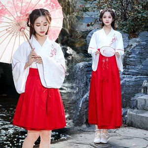 Fairy Girls Chinese Clothing Water Sleeve Traditional Hanfu Women Tang Suit Dance Performance Costumes Casual Outfits