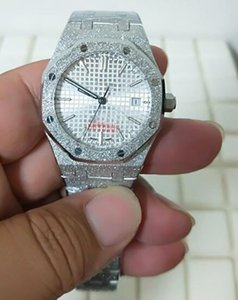 High Quality luxury 37mm Offshore Platinum Full White Dial Diamond 15451ST 67650ST Asia 2813 Movement Mechanical Automatic Mens Watch