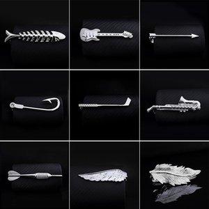 Cheap Clips & Cufflinks 1pc Men Clip Fish Bone Leaf Guitar Feather Saxophone Multiple Styles Tone Metal Tie Clip Tie