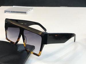 40030 Vintage-Maske Sonnenbrille Audrey Mode Frauen Designer-große Feld Flap Top Maxi-Top Sonnenbrille Leopard Pc Plank Rahmenmaterial