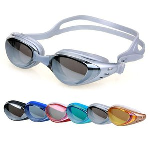 Professionnel Natation Lunettes Anti Protection UV brouillard lunettes de natation étanche Electroplate pour adultes hommes et femmes