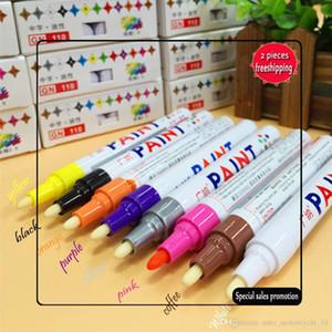2017 8 Renkler Evrensel Su geçirmez Kalıcı Boya Oto Araç Lastiği Lastik Marker Kalem sırtı Kauçuk Metal Ücretsiz Kargo