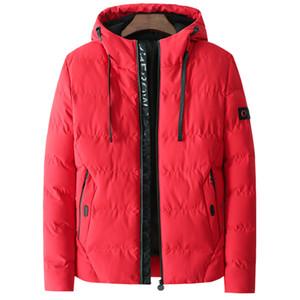 HTLB 2018 Inverno Homens Outono Casual Jacket com capuz Brasão Men Marca New Moda Sólidos WaterProof Blusão Parkas 4XL Parka