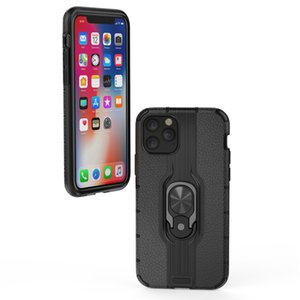 Phone Case Heavy Duty Shockproof Dual Layer Armor Case Ring Holder Cover For iPhone 11 Pro Max XS X SE