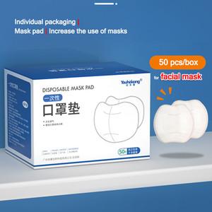 Embalagem única 3 camada filtro de filtro de Máscara Facial Almofada de algodão não tecida Tapete Protector respirável durante a vida útil da máscara alargada