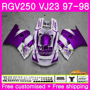 Bodys for SUZUKI SAPC RGV-250 VJ22 VJ21 RGV 250 97 98 99 Frame 19HM.143 RVG250 VJ23 RGV250 VJ 21 22 23 1997 1998 1999 Fairing New Hot purple