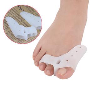 Silicone Big Toe Separator Proteção Corrector de hálux valgo 3 Holes Toe Separator Corrector Healty Ferramenta RRA982