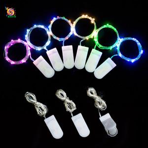 Decorazioni per la casa creative Luci a LED per feste 1M 10 luci Mini luci a batteria a LED Strisce LED per bottiglie di vino Decorazioni natalizie