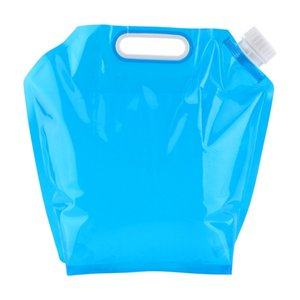 5L Foldable Water Bag PE Tasteless Safety Seal Portable Camping Collapsible Water Container Survival Storage Bag Accessories,