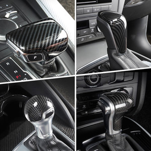 탄소 섬유 자동차 스타일링 콘솔 기어 시프트 핸들 헤드 프레임 커버 스티커 아우디 A3 A4 A5 A6 A7의 2 분기 Q5의 Q7 S3 S4 S5 S6 S7 B8 B9