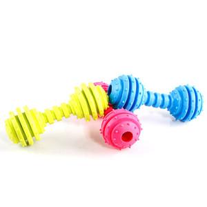 Pet Dog Chew Squeak Toy Molar Varilla, Dientes Juguetes de limpieza Perro No tóxico TPR Chew Stick, Chew Dog Durable Squeaky Bite Toy