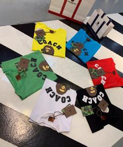 20SS APE X COA joint model dinosaur head трехмерная рельефная печатная хлопчатобумажная футболка M-3XL шесть цветов # 1637