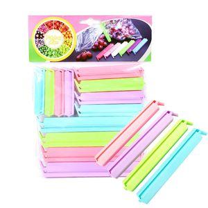 Il cibo di tenuta della clip di colore della caramella Sealer conservazione dell'alimento fresco di plastica 12pcs clip / pack Snack Bag tenuta morsetto