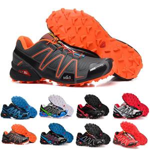Salomon Speed Cross 3 Hız Çapraz 3CS III Açık Erkek Kamuflaj Kırmızı Siyah Spor Ayakkabı Koşu 3 ayakkabıları 40-46 FL128 eur Hız Crosspeed mens