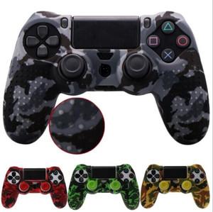 Шипованная противоскользящая силиконовая резина чехол для кожи PS4 DS4 Pro Slim контроллер с 2 крышками Бесплатная доставка