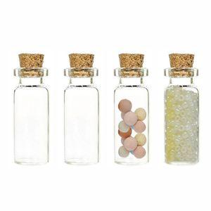 4pcs lot 10ml Glass Decorative Bottle Jars With Cork House Decorative Accessories Pretty Mini Glass Decorative Bottle Jar