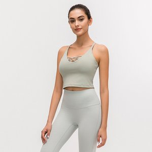 Professional Yoga Vest Female Thin Belt Cross Beauty Back Shockproof Upper Support Including Chest Pad Sports Underwear