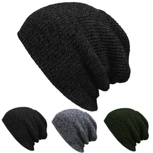 Unisex Baby Knit Baggy Beanie Winter Autumn Hat Outdoor Skiing Sport Slouchy Chic Knitted Cap TY66