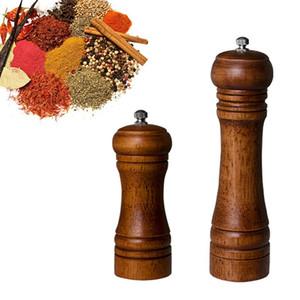 Legno Pepper Grinder manuale Sale Pepe Spice Mills Cucina pepe sesamo Salt Grinder cucina del ristorante Mills