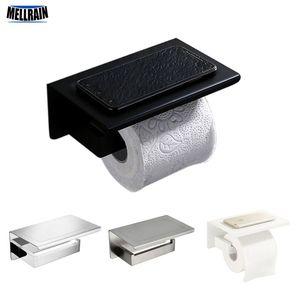 Вспомогательное оборудование оборудования ванной комнаты держатель туалетной бумаги матовый черный белый матовый зеркало хром латунь металлического шкафа бумаги T200425