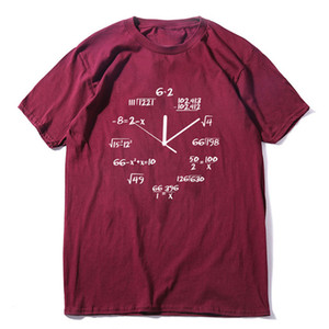 الرياضيات على مدار الساعة طبع الرجال بلايز مضحك قصيرة الأكمام O- العنق ذكر بلايز كول الصيف فضفاض أوم تيز
