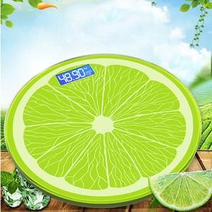 Gehärtetes Glas Elektronische home Präzision Waage kreative Cartoon Mode Mini Zitrone Runde menschliche Körperwaage 0,2-180 kg