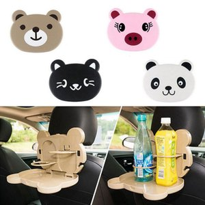 Panda Foldable Auto Dining Table Car Back Seat Folding Tray Cup Holder Animal Pig Cat Bear Food Drink Desk OOA4267