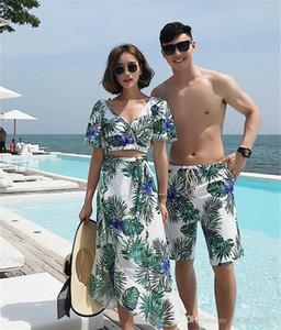 Summer Beach Mens Designer Swimwear Fashion Flora stampato Womens Designer Coppie Swimwear Hawaii Vacanze Swim Abbigliamento