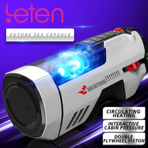 Leten Male Masturbators Automatic Telescopic Heating With Voice Vagina Vibrator Masturbation Cup Piston Sucking Sex Toys For Men Vibration