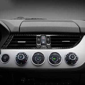 Для BMW Z4 E89 2009-2015 Углеродных волокна салона Центрального кондиционера Outlet Vent наклеек Рама автомобиля и деколите автомобиль стайлинг