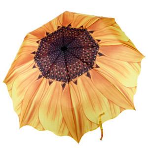 Зонт от солнца подсолнечника складной для путешествующих женщин Sun Rain Three складной зонт зонтик мода творческий большой открытый
