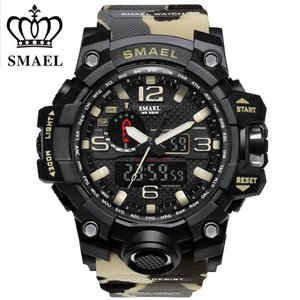 2017 SMAEL Camouflage Military Digital-watch Men's G Style Fashion Sports Shock Army Watch LED Electronic Wrist Watches for Men C19010301