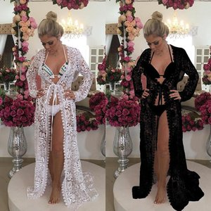 2019 New Straps European And American Fashion Swimwear Blouse Beach Sunscreen Clothing Embroidered Lace Bikini Swimsuit Shawl