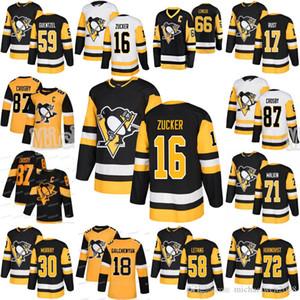16 Джейсон Zucker Pittsburgh Penguins Сидни Кросби Джейк Guentzel Евгений Малкин Летанг Hornqvist Rust Matt Murray Гальченюк трикотажных изделий