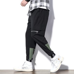Plus Large Size 5XL Men Cargo Pants 2020 Mens Hiphop Zipper Pockets Joggers Pants Male New Fashion Sweatpants Spring Overalls
