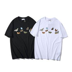 Tide brand luxury designer men angelss high quality printing Wild Tshirts classic Half sleeve women couple Short t-shirts