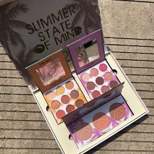FashionSummer Ombretto Set 3 in 1 ombretto Evidenziare Cosmetics Kit Shimmer Matte Eyeshadow Occhi insieme di bellezza Bella Love Gift per l'estate