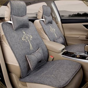Universal Car Seat Covers Four Seasons Flax Auto Seat Cushions Interior Car Accessories Fashion Car-styling 4 Colors Available