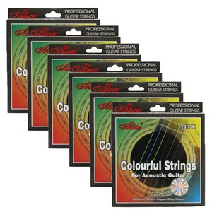 6Sets Alice Bunte Akustikgitarre Strings Coated Copper Alloy Wound A407C 011