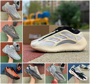 700 MNVN Running Shoes Arancione Triple Nero Bone Phosphor Kanye West 700 V2 corridore dell'onda Vanta inerzia Sneakers V3 Alvah Azael 3M Reflective