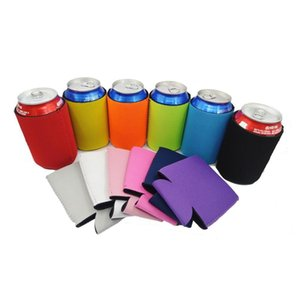 Beverage Cup Cover with Bottom Beer Bottle Cover with Elastic Diving Material and Beverage Insulation Cover in 12 Colors DHB378