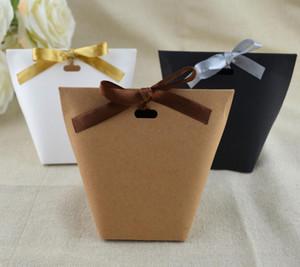 Obrigado Merci Gift Wrap Partido Birthiday casamento Gift Bag favores Bolsas Handmade item Saco dos doces da jóia gravata Embalagem dobrável Box
