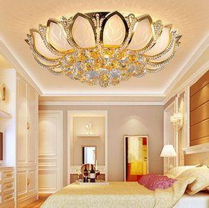 Lustres en cristal modernes à LED fleur de lotus de luxe haute classe K9 lustre en cristal lobby hôtel villa led lustres suspendus avec ampoules MYY