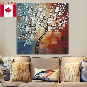 2019 New Abstract Framed Hand Paint Flower Tree Canvas Print Oil Painting Picture Home Art Decoration