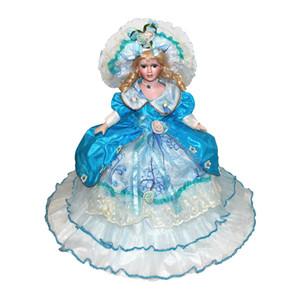 A mano bambola di porcellana con il basamento, 45 centimetri in ceramica Figurine Victorian Lady, regalo dei bambini Teens da collezione, 7 colori per scegliere